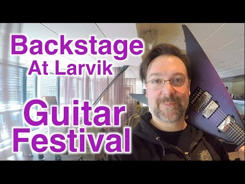 Backstage At The Larvik Guitar Festival In Norway