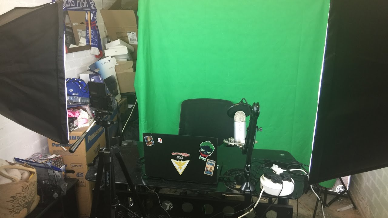 how to set up a video studio for youtube