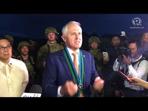 Australian Prime Minister Malcolm Turnbull vows stronger defense ties with the Philippines
