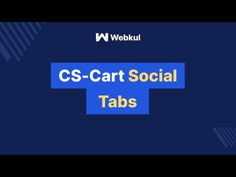 CS Cart Social Tabs