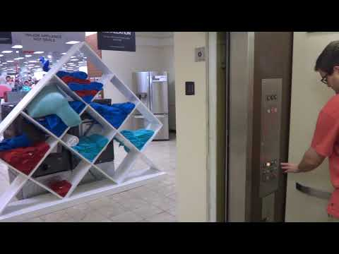 Montgomery Hydraulic Elevator at JCPenney Fashion Valley Mall San Diego CA