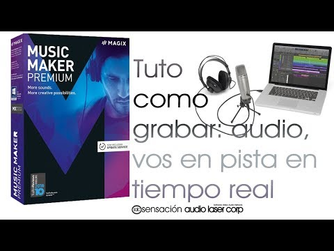 How to record: audio, you on track in real time.MAXIG MUSIC MAKER 2017
