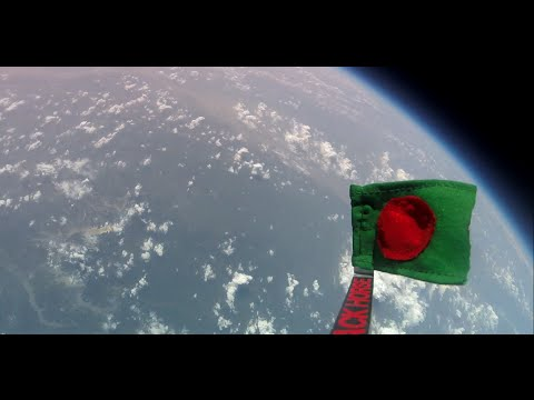 Bangladeshi Flag at the doorsteps of Space full Journey