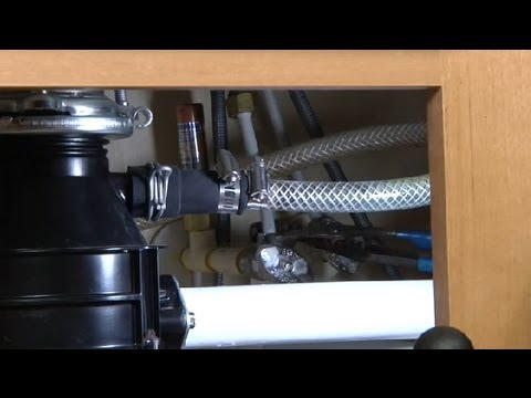 How To Disconnect Water Supply Lines In Kitchen Sinks : Kitchen Plumbing