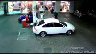 CCTV Footage Of Armed Robbery At Fuel Station.