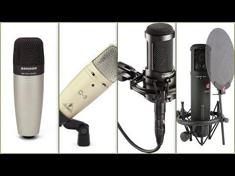 Project studio microphone comparison tests.AT2035, C01, C-3, sE2200aIIMP