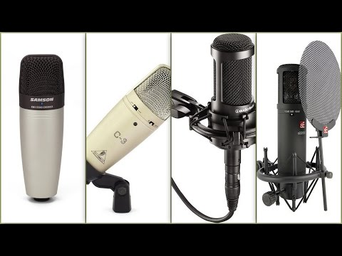 Project studio microphone comparison tests.AT2035, C01, C-3, sE2200aIIMP