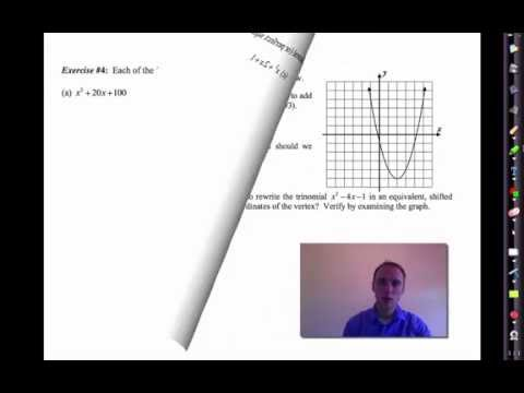 Wn Common Core Algebra Iunit 8lesson 4pleting The Square By