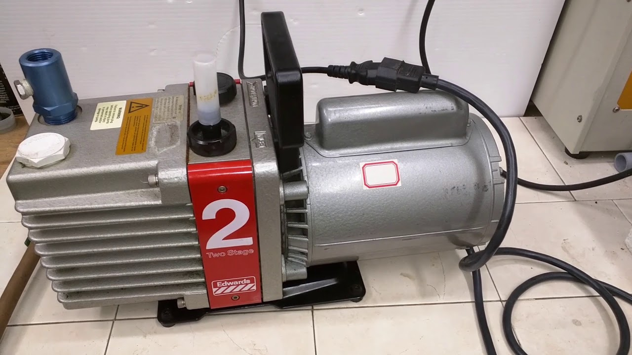 Edwards E2M2 Vacuum pump test. - YouTube