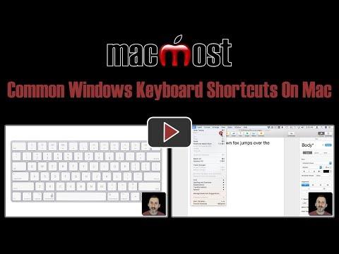 Common Windows Keyboard Shortcuts On Mac (#1722)