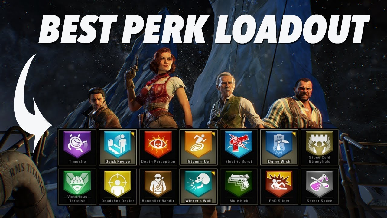 Best Perk Loadout For Solo High Rounds Black Ops 4 Zombies Youtube