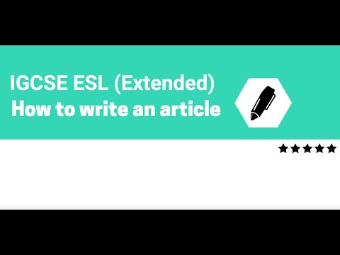 IGCSE ESL Article | Exercise 6 | Top Tips