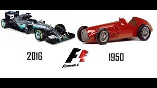 L'évolution de la Formule 1 1950-2016