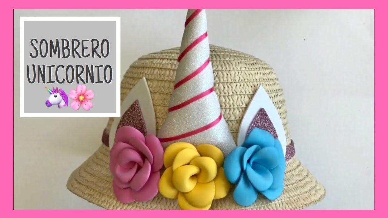 Sombrero unicornio flores de fomi goma eva youtube - Flores sencillas de goma eva ...