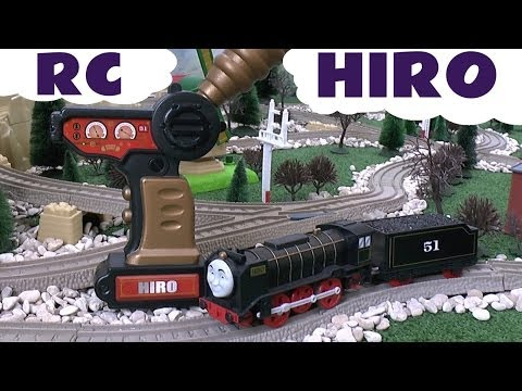 Remote Control Thomas & Friends RC Hiro by Mattel for Trackmaster and Tomy Toy Train Set Spotlight