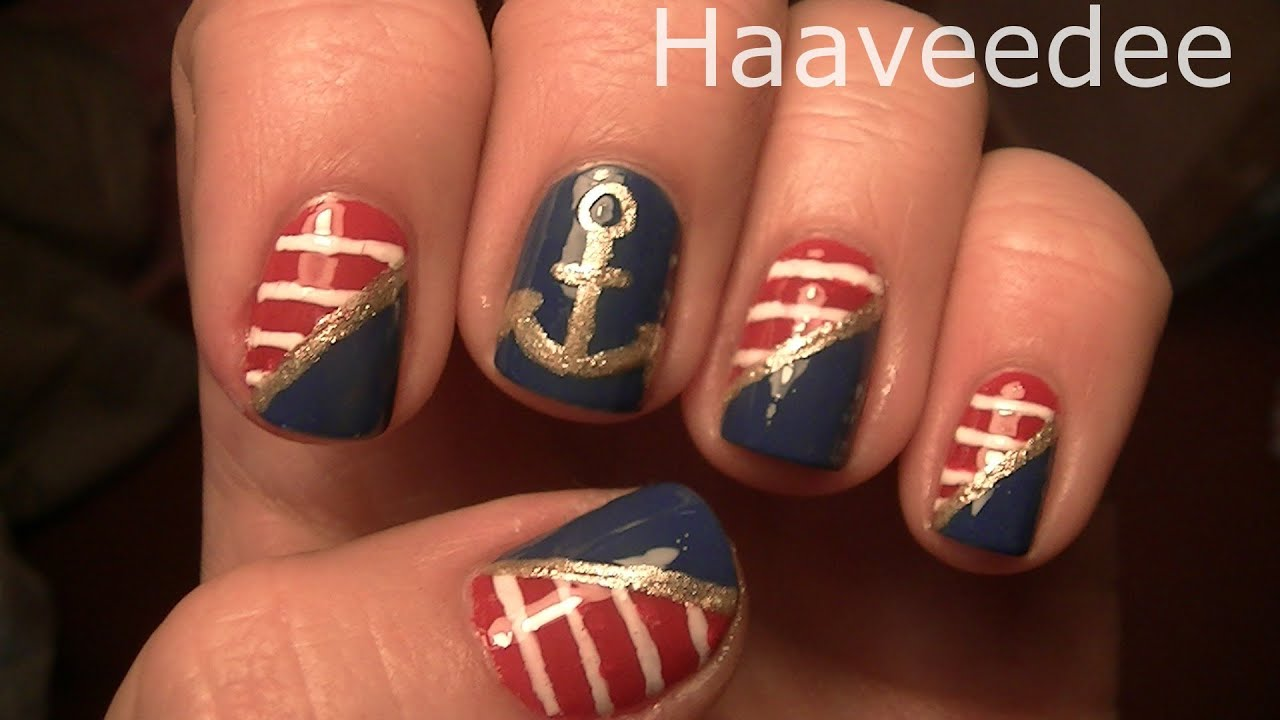 Sailor nail art design youtube prinsesfo Image collections