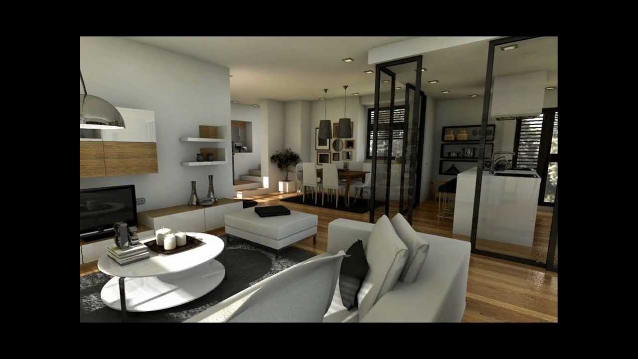 Dise o interior duplex 100m2 youtube for Casa moderna de 50 m2