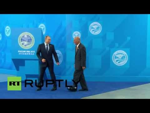 Russia: Putin welcomes heads of SCO observer states to Ufa