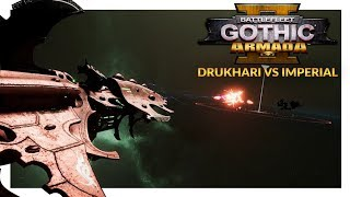 BATTLEFLEET GOTHIC ARMADA 2 | Drukhari vs Imperial Navy (1v1 Beta 2 Gameplay Ranked Battle 18)