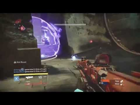 Echo 33 Rare Pulse Rifle on the Burning Shrine (so many mistakes, but a great weapon)