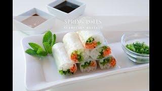 Vegetable Spring Rolls with Peanut Sauce | Vegan, Paleo, Keto