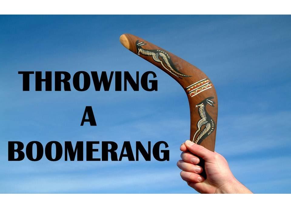 Throwing A Boomerang