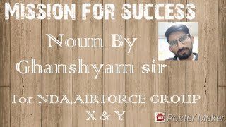 Noun part 1( sentence analysis attribute,partitive and subject complement) by Ghanshyam sir