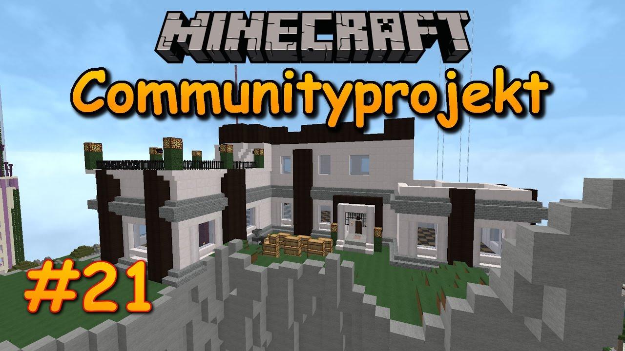 Ein Blick Auf Die Stadthalle Ideen Furs Dach Minecraft