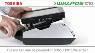 """The toshiba willpos c10 """"all-in-one"""" touch screen terminal point-of-sale hardware solution with its integrated printer and fan-less design is ideally suited ..."""