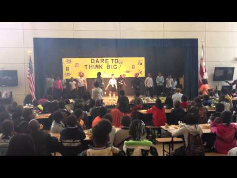 Savoy Elementary School morning assembly