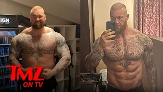 'The Mountain' Shows Off Insane Body Transformation Ahead Of Boxing Match | TMZ TV