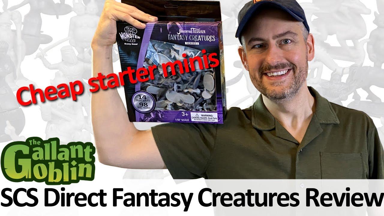 Cheap minis on Amazon! - Fantasy Creatures Series I - SCS Direct Unpainted Minis
