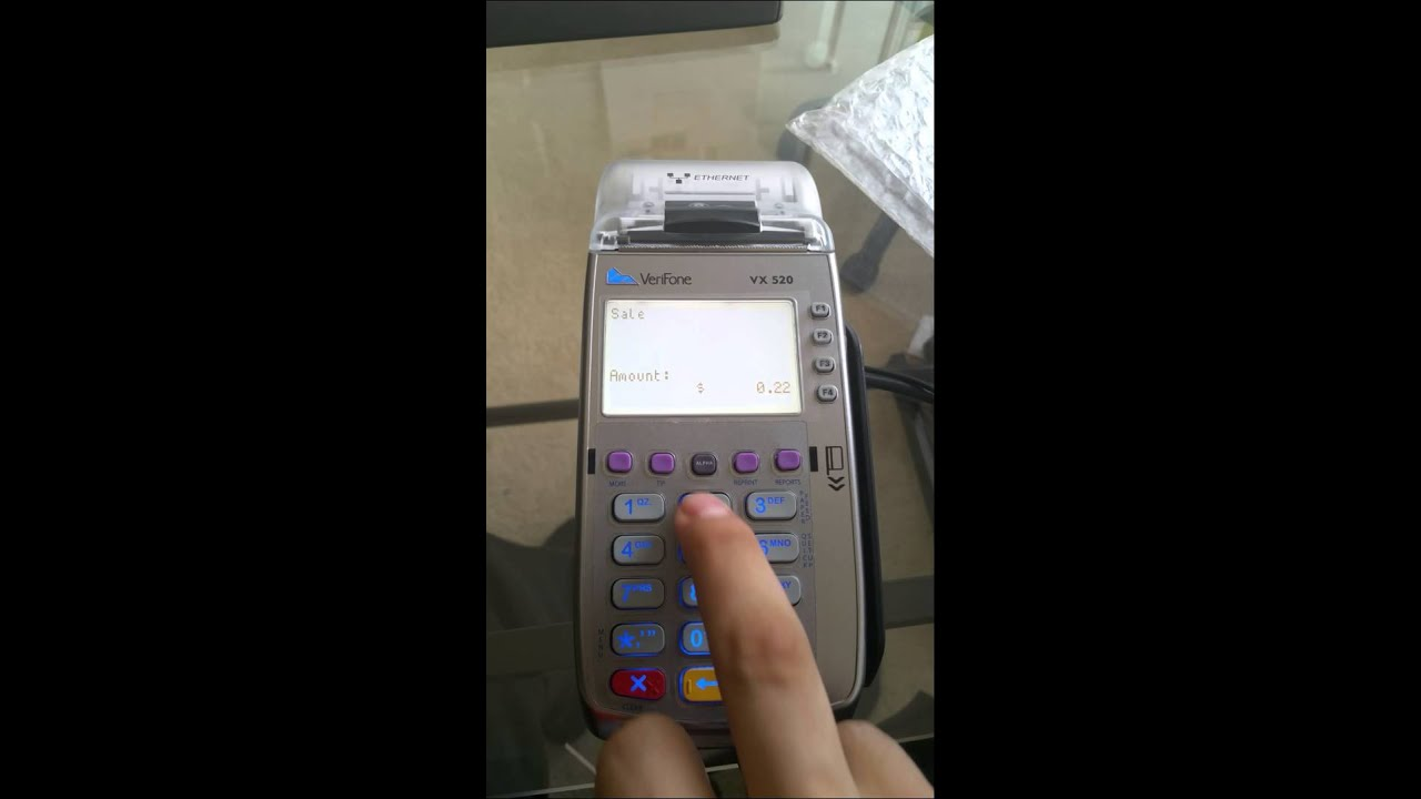 How to use your Verifone VX 520 and VX805