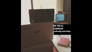 HP 290 G1 1QM91EA unboxing and setup.