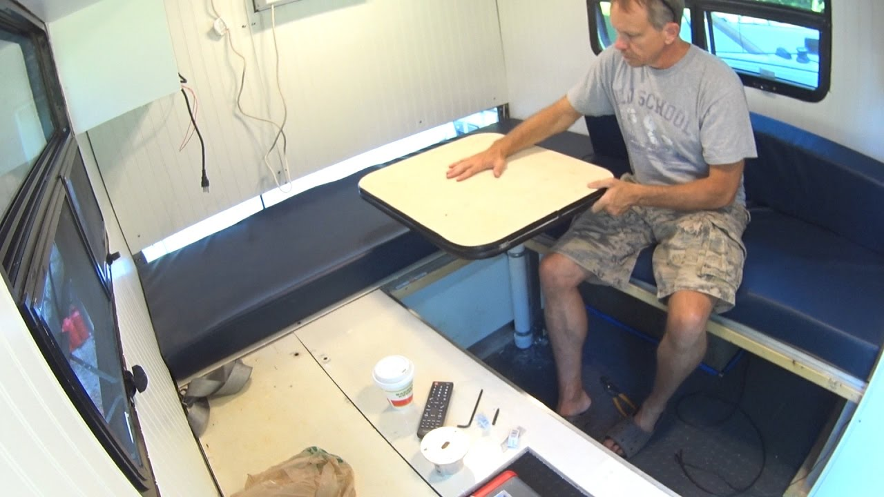 Box Truck Camper 91 Rv Dinette Table Bed Youtube