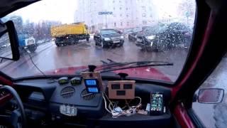 Электро ОКА (электромобиль) выезд №21 31.01.16  с рекуперацией - electric car VAZ OKA 1111