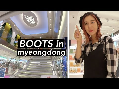 Boots Flagship Store in Myeongdong + FNC Wow Cafe