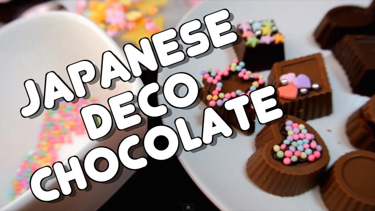 Japanese Deco Chocolate For Valentine S バレンタインチョコの作り方
