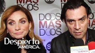 Elizabeth Álvarez escucha a Jorge Salinas hablar de lujos y vida marital