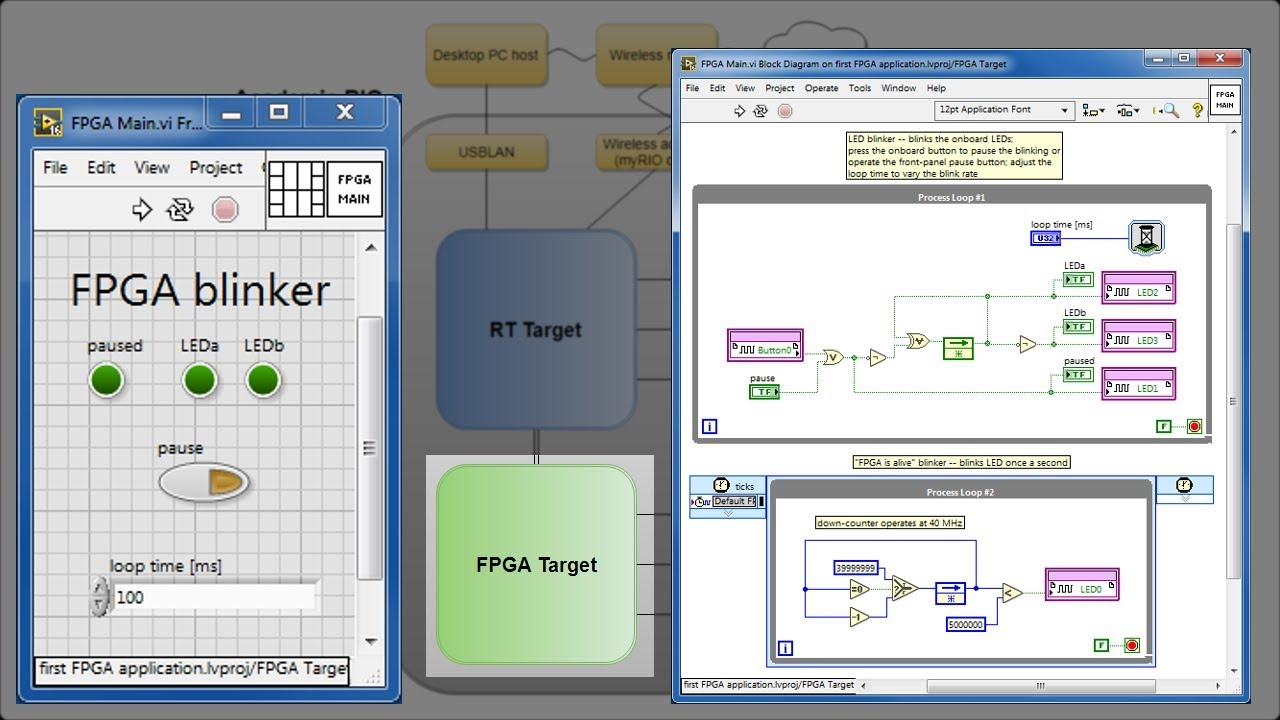 LabVIEW procedure: Make your first FPGA application