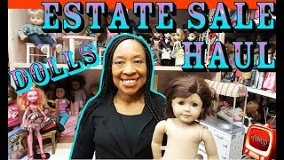 ESTATE SALE HAUL & Quick Doll Room Update  - American Girl Doll