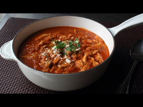 Chicken Tinga Recipe-Spicy Mexican Style Stewed Chicken in Chipotle Sauce