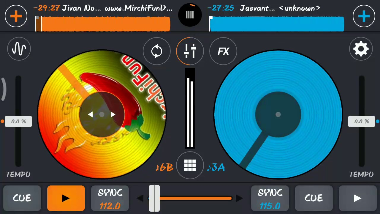 How to remix song in cross dj app for mobile/gujarati timli remix in cross  dj mobile app