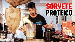SORVETE PROTEICO DE PRESTÍGIO - RECEITAS FIT GROWTH