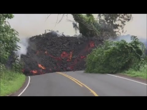 Earthquakes rock Hawaii as lava cuts off major highway