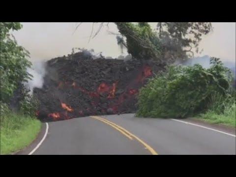 Earthquakes rock Hawaii as lava cuts off major highway