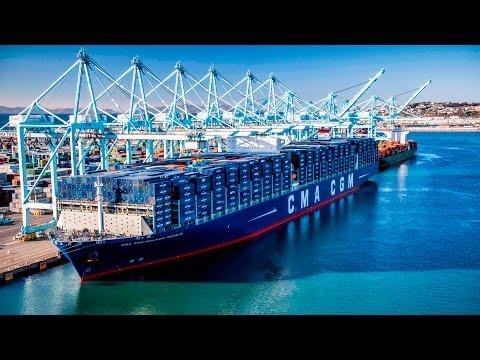 Port Of Los Angeles: Arrival Of CMA CGM Benjamin Franklin