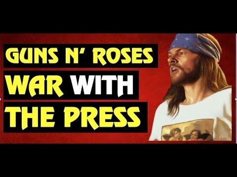 Guns N' Roses  How Axl Rose Called Out the Media in Get in the Ring