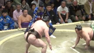 20140113 大相撲初場所2日目 白鵬 vs 豊ノ島 白鵬万全.