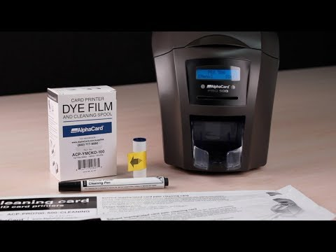 AlphaCard PRO 500 ID Card Printer - How to Clean Your Printer